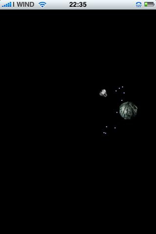 La navetta alle prese con la sfera Borg